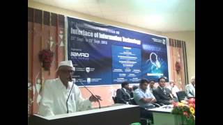 Speech by Hon.Pad. Balasaheb Vikhe Patil in International Conference held @ IBMRD