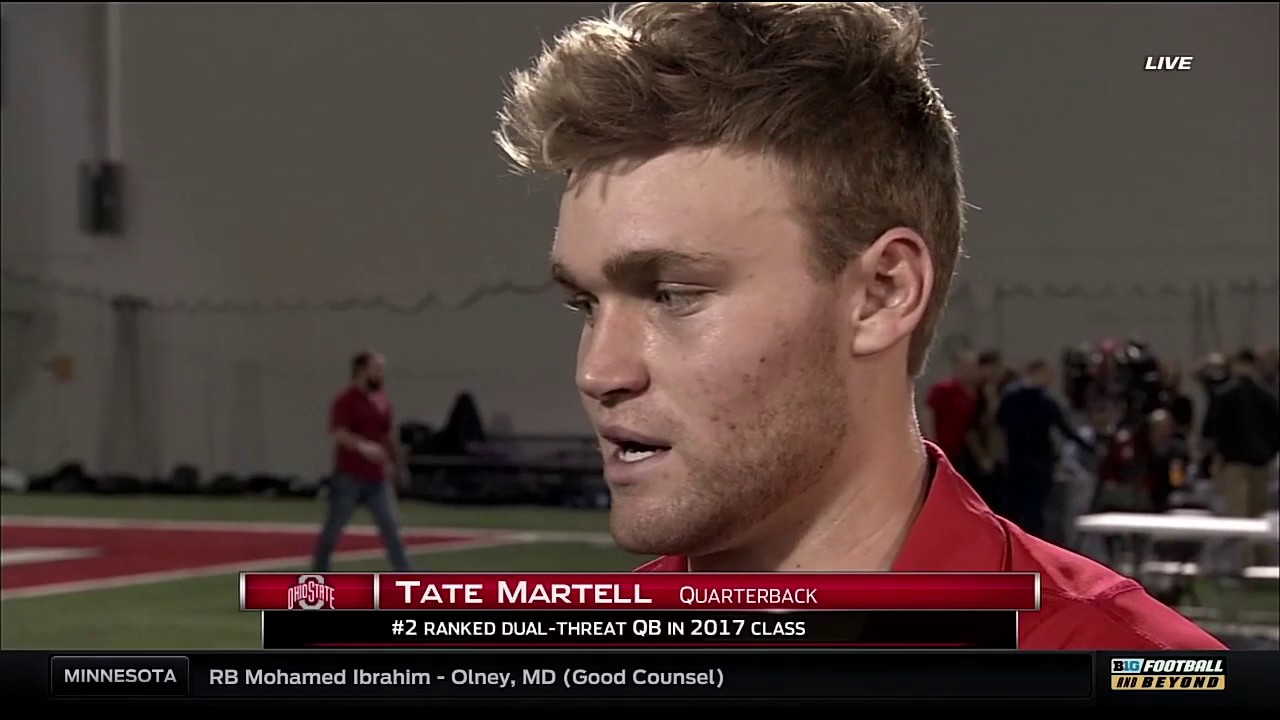 Tate Martell on Signing to Ohio State - YouTube