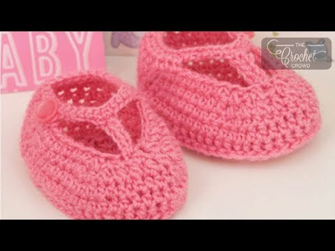 Free Crochet Pattern T Strap Booties : How To Crochet Baby Booties: T-Strap Baby Booties - YouTube