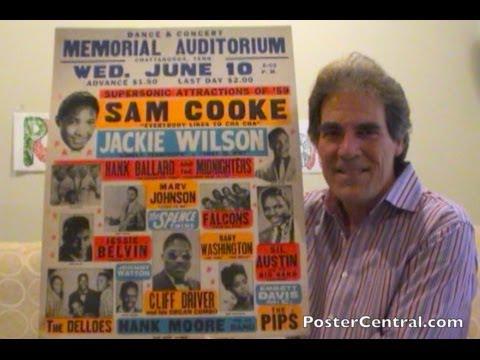 Sam Cooke, Jackie Wilson Concert Poster 1950s R&B Window Card Pt. 1