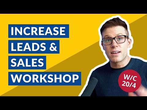 [🔴LIVE] Increase Sales/Leads Workshop