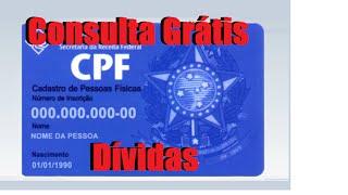 Consulta gratuita de dívidas do CPF na internet - Site do Serasa - Nome
