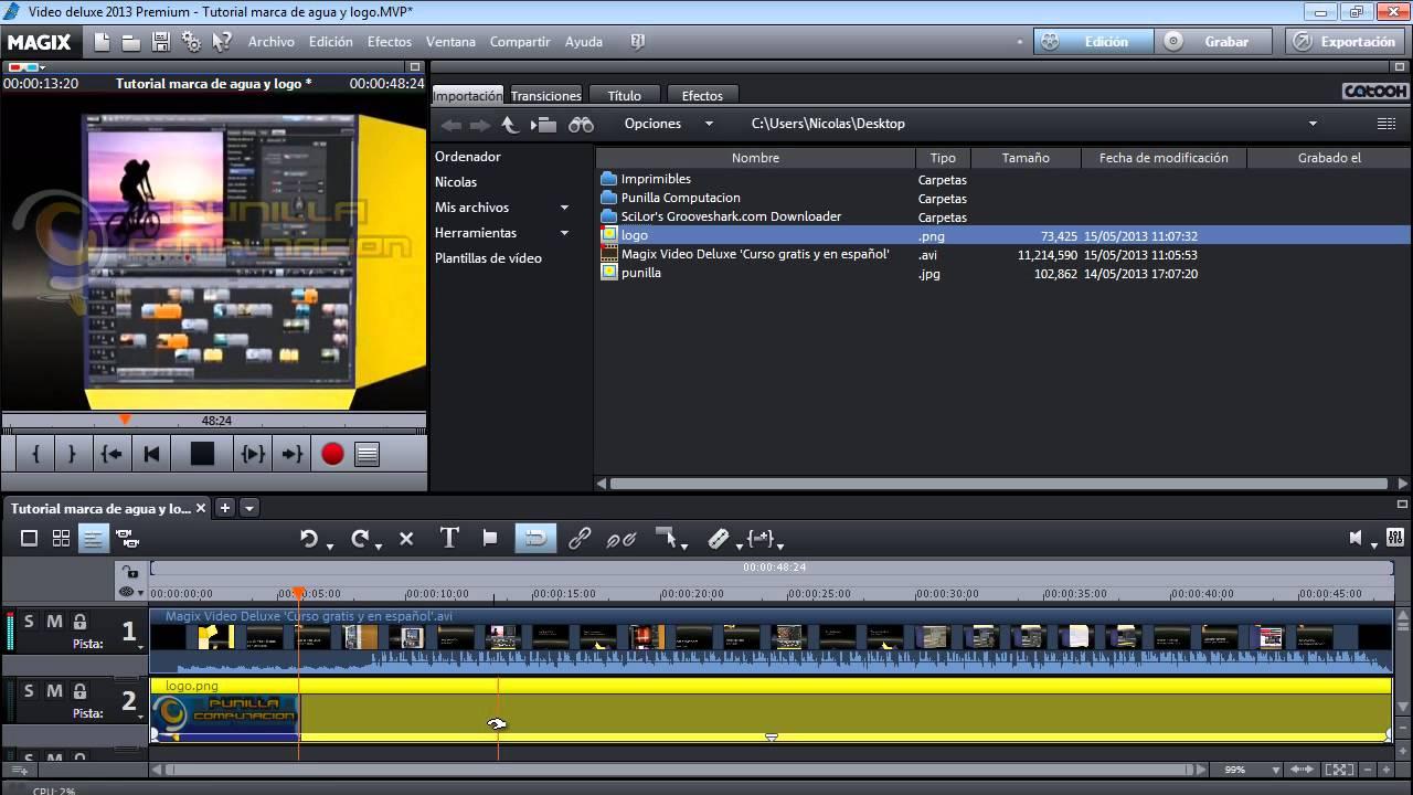 Tutorial Marca De Agua Y Logo En Videos Magix Video Deluxe Youtube