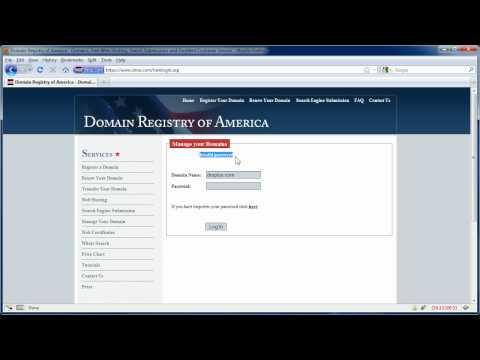 Domain Registry of America Control Panel Log In