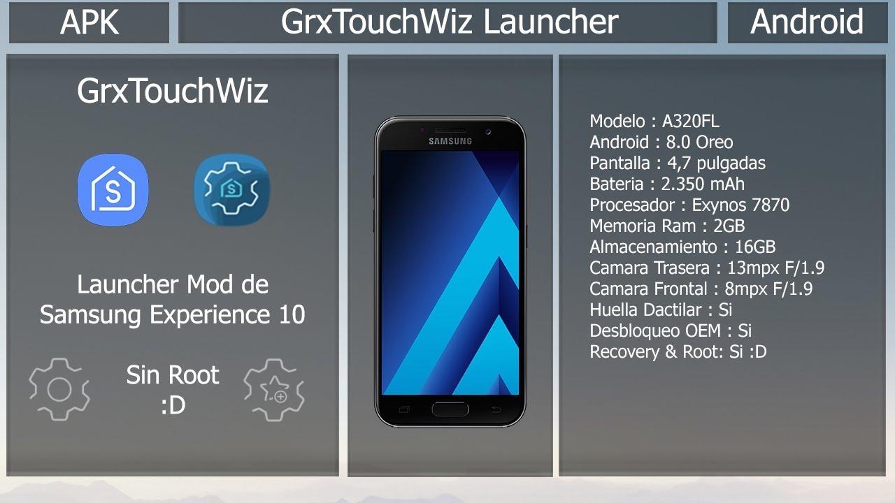 GRX TouchWiz Mod - Launcher Mod de Samsung Experience 10 - Sin Root