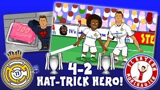 4-2! 👊RONALDO is HAT-TRICK HERO👊 Real Madrid vs Bayern Munich (Parody Goals Highlights 2017)