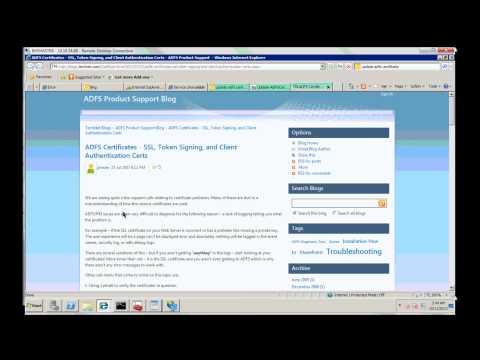 SSL Certificates and AD FS