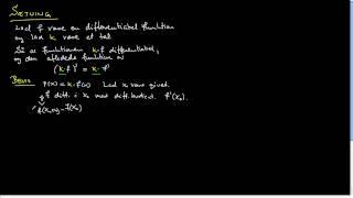 Bevis: Differentialkvotient af konstant gange funktion