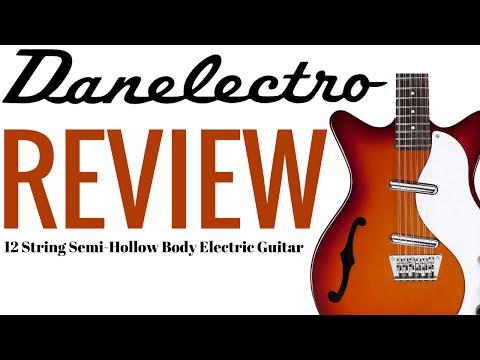 Danelectro 12 String Semi Hollow Electric Guitar ★ REVIEW ★ Cherry Sunburst