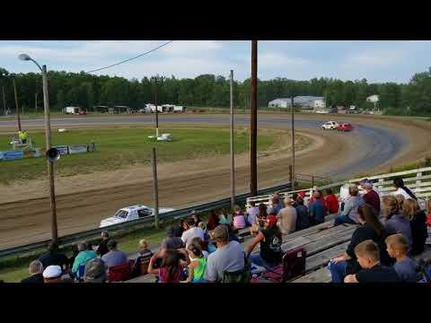 Bemidji Speedway 7 29 2018 mini stock heat 3
