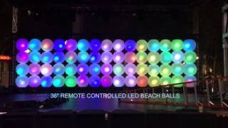 """36"""" Remote Controlled LED Beach Balls in Concert"""
