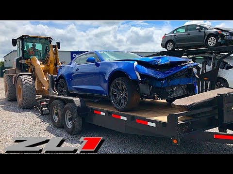 Rebuilding A Wrecked 2018 Camaro Zl1 Youtube