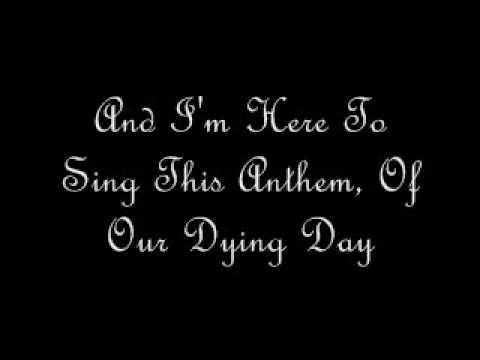 Story of the year  anthem of our dying day lyrics
