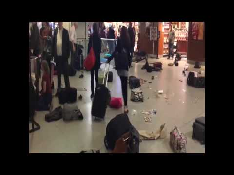 Stampede in Penn Station NYC! Aftermath of the chaos in Penn Station New York 4/14/17