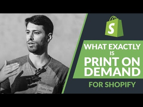 What Exactly Is Shopify Print On Demand