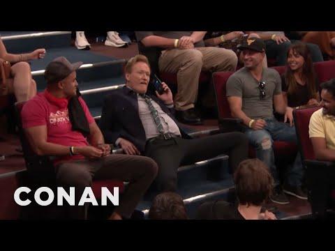 Conan Confiscates An Audience Member's Phone - CONAN on TBS