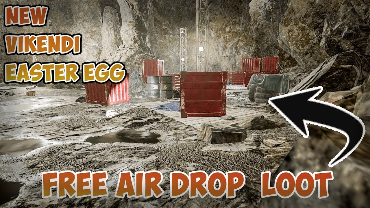 Pubg Pc New Secret Cave Free Air Drop Loot Vikendi Cave Youtube