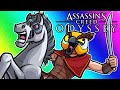Assassins Creed Odyssey Funny Moments   Brian the Horse and Blowing Up Ships