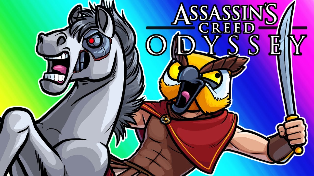assassins-creed-odyssey-funny-moments-brian-the-horse-and-blowing-up-ships