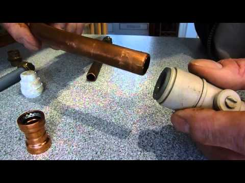 How to fit and remove plastic pipe fittings. For easy install of heating and other pipework.