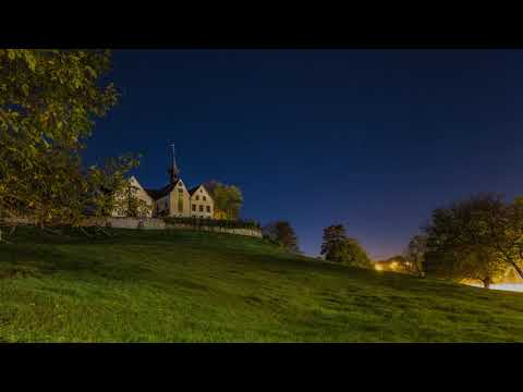 Day to night time-lapse of Sankt Margarethen Basel (Switzerland)