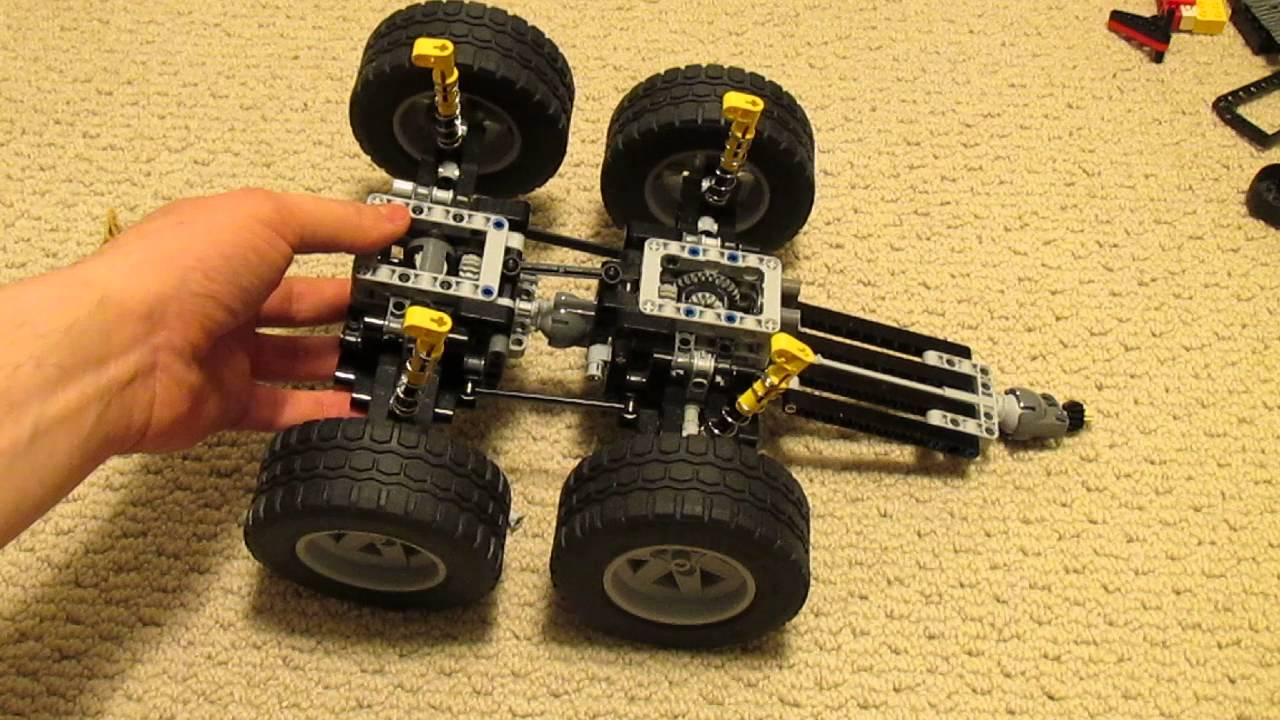2 Axle Truck : Lego salvage truck rear axle assembly youtube