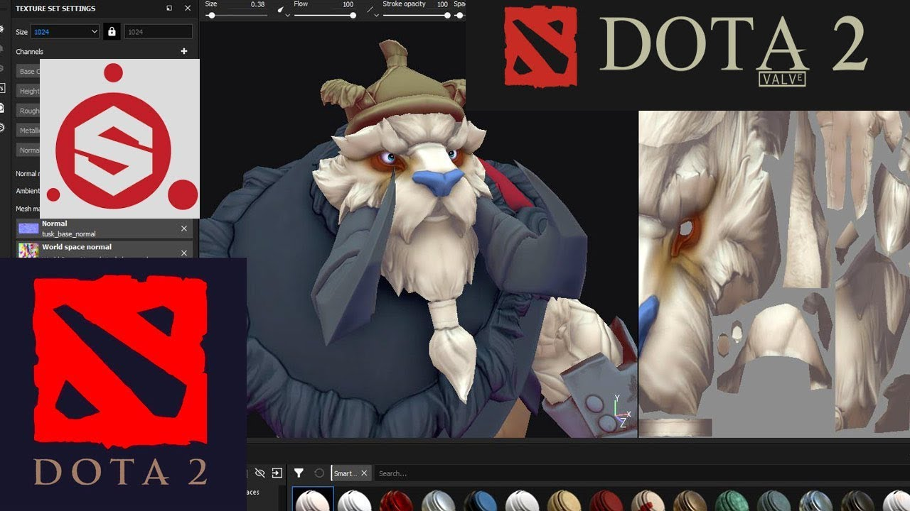 Dota 2 - Using Stylized Smart Material for Textures