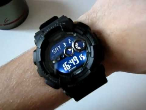 7101beb29 CASIO G-Shock GD-100-1B - black digital watch - YouTube