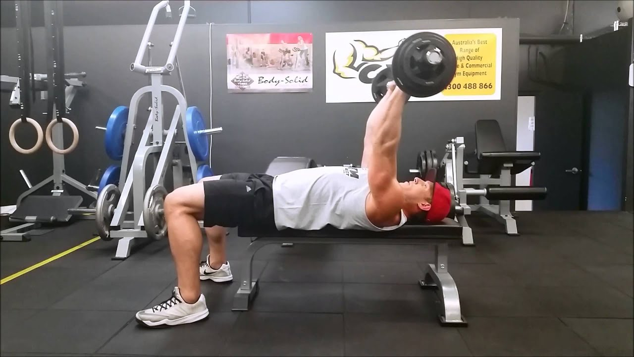 Tricep Extension Demo On The 5ft Compact Olympic Barbell 700lbs