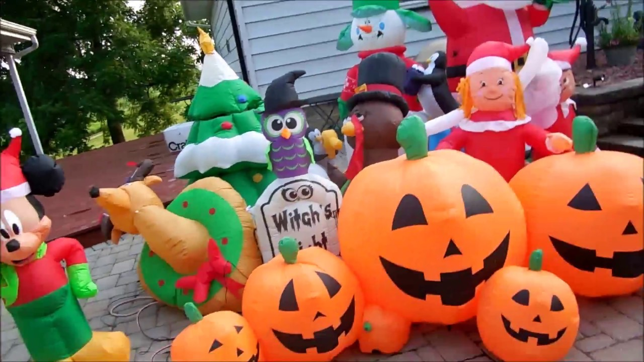 my yard inflatables halloween and christmas - Halloween And Christmas