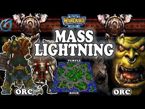 Grubby | Warcraft 3 TFT | 1.30 | ORC v ORC on Turtle Rock - Mass Lightning