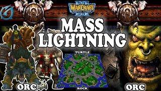 Grubby | Warcraft 3 TFT | 1.30 | ORC v ORC on Turtle Rock - Mass Lightning