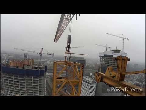высота170м. наращивание башенного крана Liebherr 280 , 500тая секция .