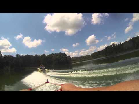 Wakeboarding GoPro chest mount