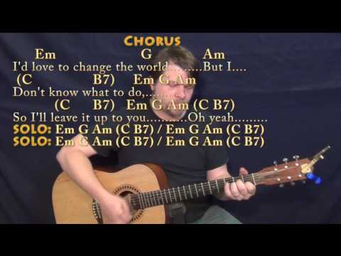 I'd Love To Change the World (Ten Years After) Guitar Cover Lesson with Chords/Lyrics