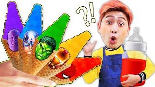 [슈퍼히어로 강이] 강이는 타노스 스파이더맨 헐크 아이언맨 친구들과 놀아요! Superhero LuckyKangi 럭키강이
