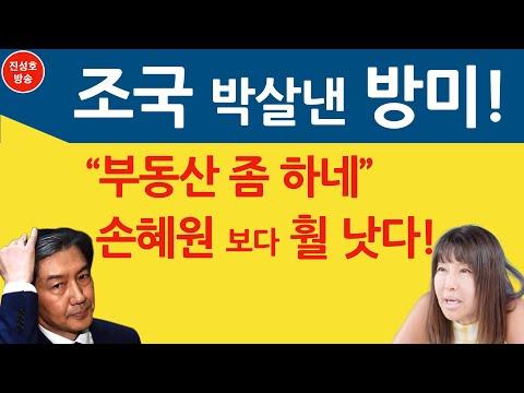 """조국 박살낸 방미! """"부동산 좀 하네""""  손혜원 보다 훨 낫다! (진성호의 융단폭격)"""