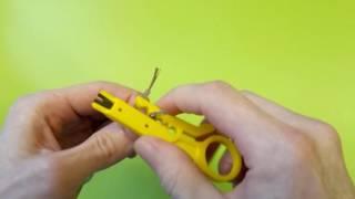 Stripper do skręcania pary i styków 110 - Rozpakowanie i testowanie