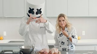 Thanksgiving Dinner Game Hens (Feat. Celebrity Chef Cat Cora) | Cooking with Marshmello