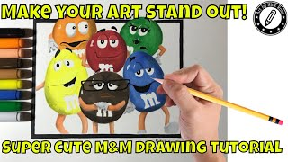 How to draw M and M Characters| You can draw like a PRO! How to draw Popular brands|