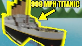 CRAZY SUPER SPEED TITANIC GLITCH | Roblox Shark Bite