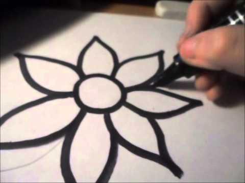 Come disegnare un fiore speciale youtube for Immagini di murales e graffiti
