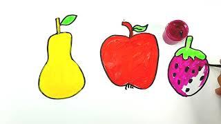 Bolalar uchun mevalarni chizish/Drawing fruits for children/Рисование фрукты для детей