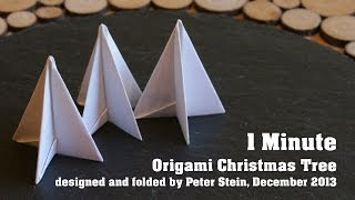 1 Minute Origami Christmas Tree