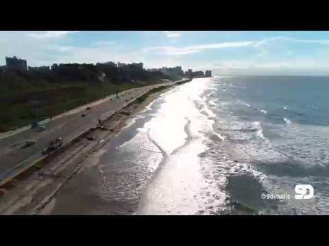 Voo de Drone da Av. Litorânea até a Ponta D'areia ( São Luís - Maranhão )