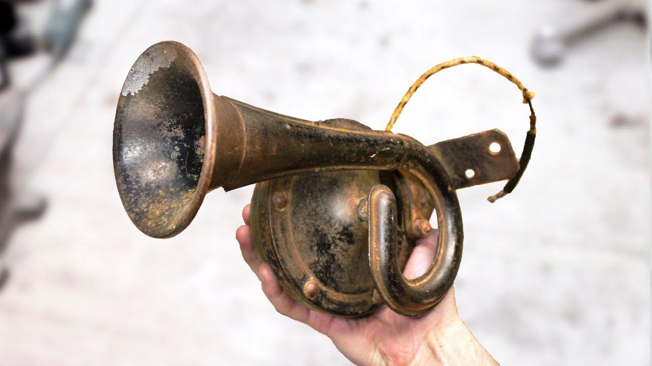 Old Dented Car Horn Restoration - Cold War Era Restoration