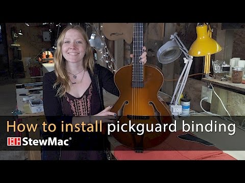 How to install pickguard binding