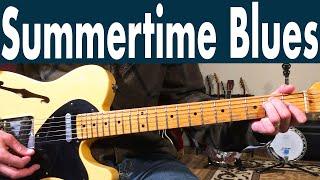 How To Play Summertime Blues On Guitar | Eddie Cochran Guitar Lesson + Tutorial