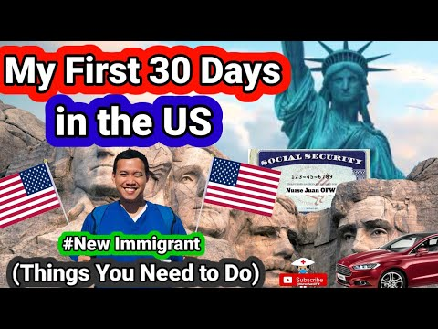 First 30 Days in the US // New Immigrant // Things you need to do //  Migrating to US