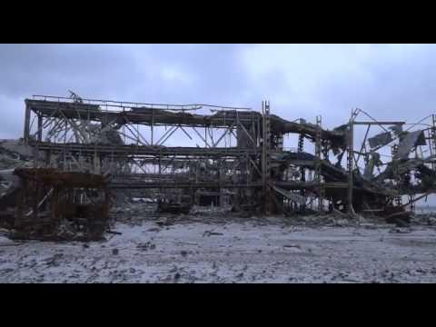 Christian Wehrschütz: Flughafen von Donezk vorher und heute. Das Symbol der Krise!